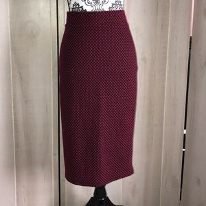 Torrid Red & Black Stretchy Pencil Midi Skirt 1